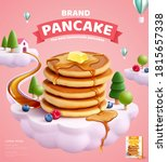 pancake mix ads with butter and ... | Shutterstock . vector #1815657338