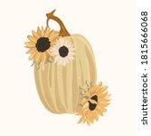 Sunflower And Thin Pumpkin...