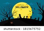 halloween background  witch ... | Shutterstock .eps vector #1815675752