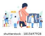 shoulder arthritis. patient... | Shutterstock .eps vector #1815697928