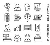 business and finance line icons ... | Shutterstock .eps vector #1815699488