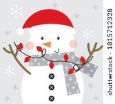 Snowman Christmas Greeting Card ...