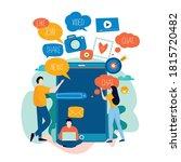 mobile applications development ...   Shutterstock .eps vector #1815720482