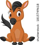 Cartoon Baby Horse Dinosaur...