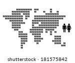 world map made from people... | Shutterstock .eps vector #181575842