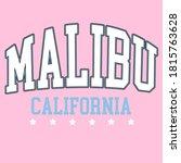 Malibu  California City Graphic ...