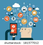 the concept of modern business. ... | Shutterstock .eps vector #181577012