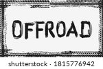 offroad vector frame made of...   Shutterstock .eps vector #1815776942