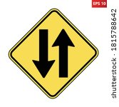 two way traffic ahead road sign.... | Shutterstock .eps vector #1815788642