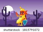 banana in superhero costume ... | Shutterstock .eps vector #1815791072
