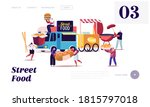characters buying street food... | Shutterstock .eps vector #1815797018