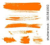 orange texture dry brush... | Shutterstock .eps vector #181581002