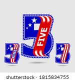 number five letter and figure... | Shutterstock .eps vector #1815834755