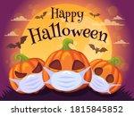 happy halloween 2020. halloween ... | Shutterstock .eps vector #1815845852