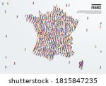 france map. large group of... | Shutterstock .eps vector #1815847235