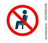 sitting is forbidden. do not... | Shutterstock .eps vector #1815850358