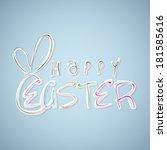 happy easter celebration card... | Shutterstock .eps vector #181585616