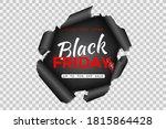 black friday sale banner. torn...   Shutterstock .eps vector #1815864428
