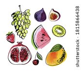 vector light fruit line... | Shutterstock .eps vector #1815866438