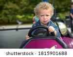 A Portrait Of Little Boy In A...