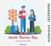 world tourism day 2020 vector... | Shutterstock .eps vector #1815908498