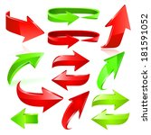 arrow icon set. raster copy. | Shutterstock . vector #181591052
