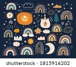 abstract doodles. baby animals... | Shutterstock .eps vector #1815916202