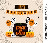 happy halloween background and...   Shutterstock .eps vector #1815925412