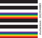 rainbow horizontal striped... | Shutterstock .eps vector #1815944885
