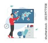 teacher giving a geography... | Shutterstock .eps vector #1815977558