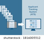 resumes transform with ats ... | Shutterstock .eps vector #1816005512