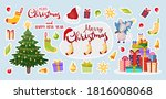 vector stickers for christmas... | Shutterstock .eps vector #1816008068