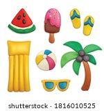 plasticine summer objects set... | Shutterstock .eps vector #1816010525