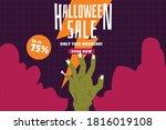 halloween sale promtoion vector ... | Shutterstock .eps vector #1816019108