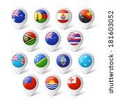 map pointers with flags.... | Shutterstock .eps vector #181603052