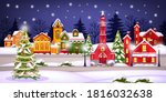 Winter Christmas Landscape With ...