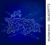 global logistics network... | Shutterstock .eps vector #1816039772