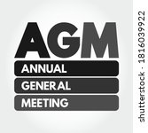 agm   annual general meeting... | Shutterstock .eps vector #1816039922