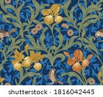 vintage floral seamless pattern ... | Shutterstock .eps vector #1816042445