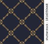 swirl pattern. seamless gold... | Shutterstock .eps vector #1816050668