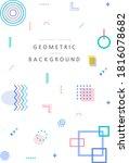 geometrical patterns for... | Shutterstock .eps vector #1816078682