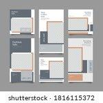 trendy editable template for... | Shutterstock .eps vector #1816115372