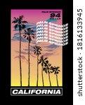 california palm springs...   Shutterstock .eps vector #1816133945