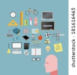 digitally generated education... | Shutterstock .eps vector #181616465