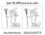 halloween black and white find... | Shutterstock .eps vector #1816169375