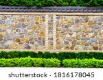 The View Of Colorful Stone Wall ...