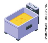 cooking deep fryer icon.... | Shutterstock .eps vector #1816199702