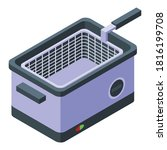 electric deep fryer icon.... | Shutterstock .eps vector #1816199708