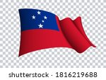 samoa flag state symbol...   Shutterstock .eps vector #1816219688