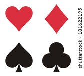 Set Of Playing Card Symbols On...